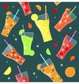 Fruit Lemonades Background Pattern vector image