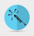 fireworks rockets sign icon explosive pyrotechnic vector image