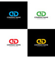 letter d and d logo icon vector image