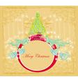 Abstract elegant grunge christmas tree card vector image