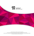 abstract geometric pink or purple polygon on vector image vector image