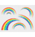 abstract realistic colorful rainbow with shiny vector image