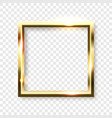 abstract shiny golden square frame with white vector image