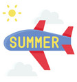 air travel icon summer sale related vector image vector image