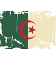 Algerian grunge flag vector image vector image
