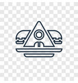 archaeological concept linear icon isolated on vector image vector image