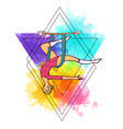 beautiful hand drawn aerial yoga vector image vector image