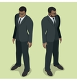 Black man security guard Security guard face vector image
