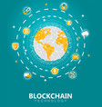 blockchain digital tech concept vector image