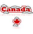 Canada and snow vector image vector image