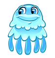 cartoon jellyfish vector image vector image