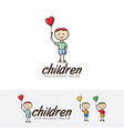 children logo design vector image