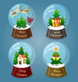 christmas snow balls vector image