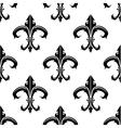 Classical French fleur-de-lis background pattern vector image vector image