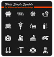 coal industry icon set vector image
