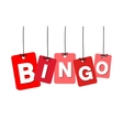 colorful hanging cardboard Tags - bingo vector image