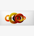 colorful rings geometric abstract vector image vector image