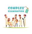 complex medical examination vector image vector image