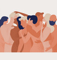 crowd of naked men and women hugging and kissing vector image vector image