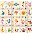 cute characters nature pattern 2 vector image vector image