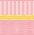 cute pattern background cartoon vector image vector image