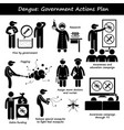 dengue fever government actions plan against vector image vector image