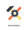 development icon concept vector image vector image