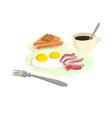 drawing breakfast vector image