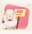 eid mubarak - traditional muslim greeting used on vector image