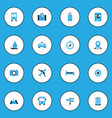 exploration icons colored set with identification vector image