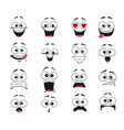 face expression isolated cartoon emoticons vector image