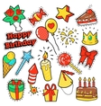 Fashion Badges Patches Stickers Birthday Theme vector image vector image