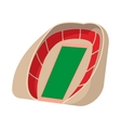 Football soccer stadium cartoon icon vector image vector image