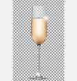 glass of champagne on on transparent background vector image vector image