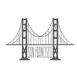 golden gate bridge in san francisco design vector image vector image