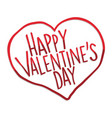 happy valentines day heart vector image vector image