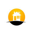 home investment logo design template vector image