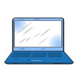isolated retro laptop icon vector image vector image