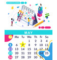 isometric calendar of 2019 business planning vector image vector image