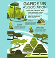 landscape architecture banner of green tree nature vector image vector image