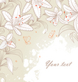 lilies background vector image vector image