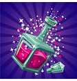 magical elixir game design concept magic bottle vector image