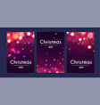 merry christmas and happy new ayer flyer template vector image vector image