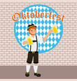 oktoberfest celebration festival vector image