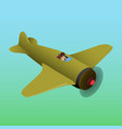 old plane is isometric vector image vector image