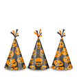 Party hats for Halloween isolated on white vector image vector image