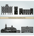 Salamanca landmarks and monuments vector image