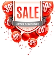 Sale Banner with Balloons vector image vector image
