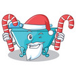 santa with candy bathtub character cartoon style vector image vector image