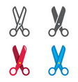 scissors designed icons set vector image